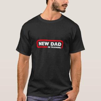 Camiseta Novo papai no treinamento - t-shirt preto