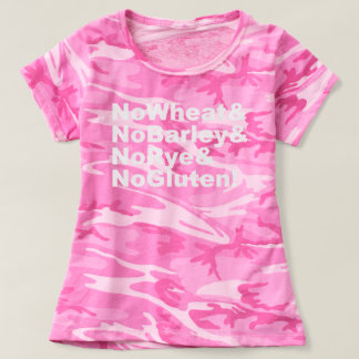 Camiseta NoWheat&NoBarley&NoRye&NoGluten! (branco)