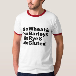 Camiseta NoWheat&NoBarley&NoRye&NoGluten! (preto)