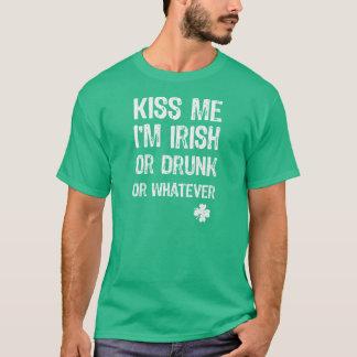 Camiseta NSPF beijam-me t-shirt do dia de St Patrick