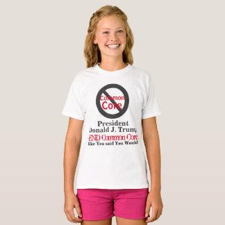 Camiseta Núcleo comum do fim do presidente Donald Trump