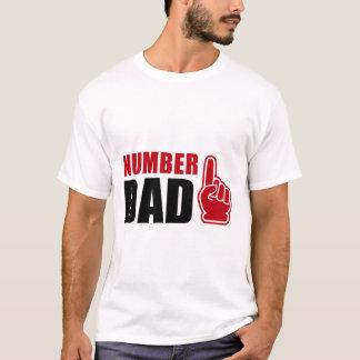 Camiseta Numere um T do pai #1 do t-shirt | do pai