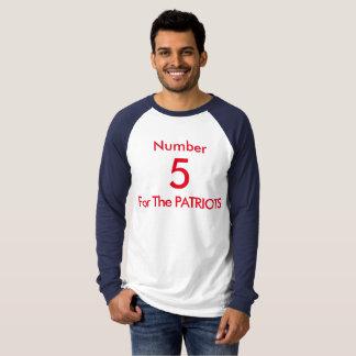 Camiseta Número 5 para os PATRIOTAS