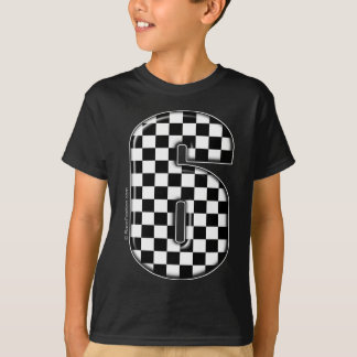 Camiseta número checkered da auto competência 6