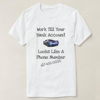 Camiseta Número de telefone