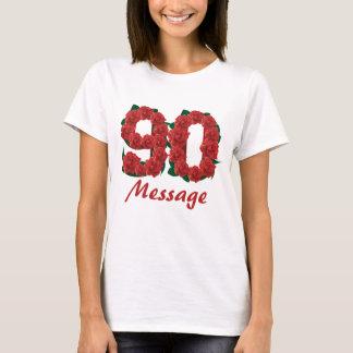 Camiseta Número feito sob encomenda do aniversário do 90 do