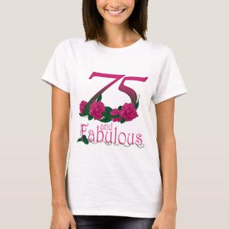 Camiseta número floral cor-de-rosa fabuloso da idade do