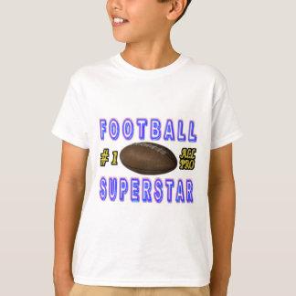 Camiseta Número um toda a estrela mundial do futebol