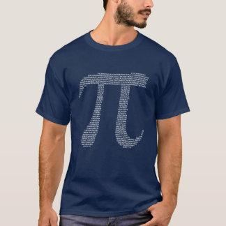 Camiseta Números do fractal do Pi
