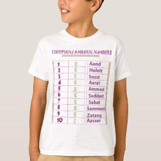 Camiseta Números etíopes/Amharic