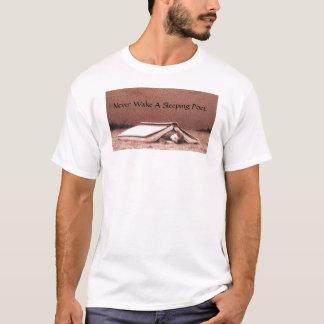 Camiseta Nunca acorde um poeta de sono