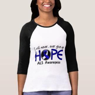 Camiseta Nunca dê acima o ALS da esperança 5
