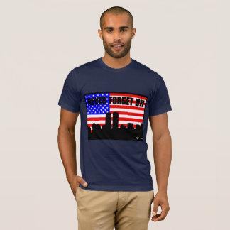 Camiseta Nunca esqueça 911 AZUIS MARINHOS do TSHIRT
