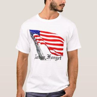 Camiseta Nunca esqueça a bandeira da escada