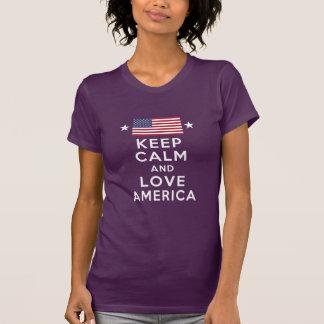 Camiseta Nunca esqueça! Mantenha a calma e ame América