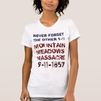 Camiseta Nunca esqueça o OUTRO 9-11. 9-11-1857