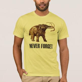 Camiseta Nunca esqueça o t-shirt do Mammoth Woolly
