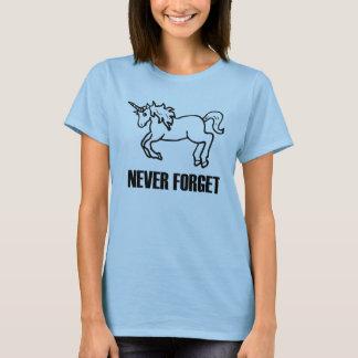 Camiseta Nunca esqueça o t-shirt dos unicórnios