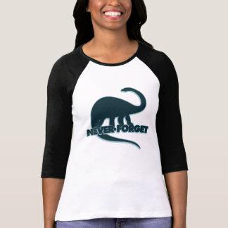 Camiseta Nunca esqueça os dinossauros