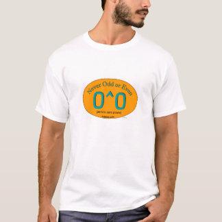 Camiseta Nunca impar ou mesmo