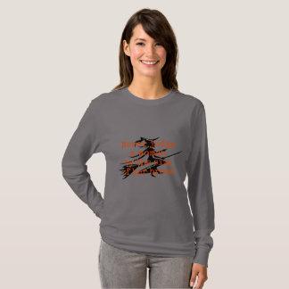 Camiseta Nunca julgue uma mulher, cinza, longo-sleeved