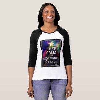Camiseta Nunca pare de sonhar