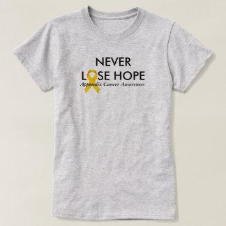 Camiseta Nunca perca a consciência do cancer do apêndice da