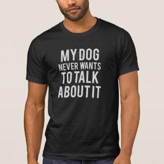 Camiseta Nunca quer falar sobre ele o t-shirt dos homens