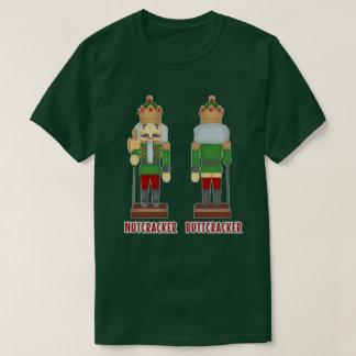 Camiseta Nutcracker engraçado Buttcracker do Natal cómico
