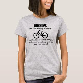 Camiseta Nutrir, é como a montada de uma bicicleta! No