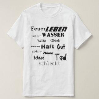 Camiseta Nuvem alemão da palavra