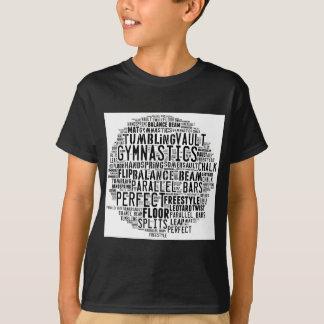 Camiseta Nuvem da palavra da ginástica que cai