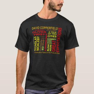 Camiseta Nuvem da palavra de Charles Dickens