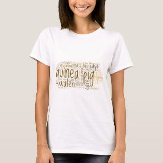 Camiseta Nuvem da palavra do cuidado da cobaia