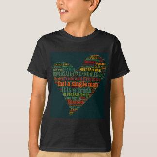 Camiseta Nuvem da palavra do orgulho e do preconceito