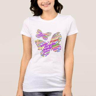 Camiseta Nuvem elegante inspirada do Tag da borboleta