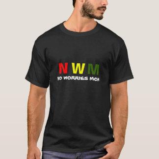 Camiseta NWM nenhumas preocupações segunda-feira, preta