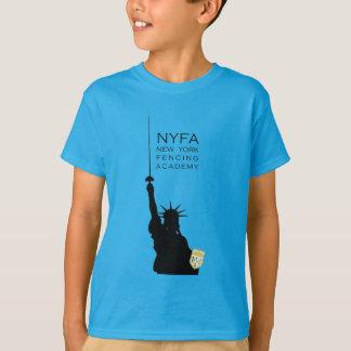 Camiseta NY que cerca a estátua da liberdade caçoa o T