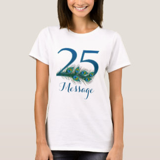 Camiseta O 25o aniversário personalizado adiciona o t-shirt