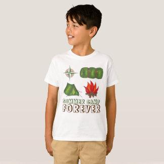 Camiseta O acampamento de Verão circunda para sempre o fogo
