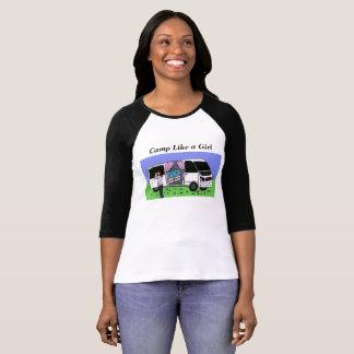 Camiseta O acampamento gosta de um t-shirt da menina