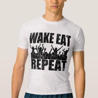Camiseta O ACORDAR COME A REPETIÇÃO #2 da ROCHA (o preto)