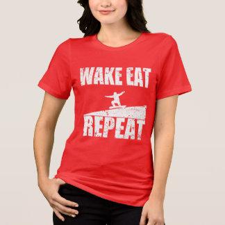 Camiseta O acordar come a repetição #2 do Snowboard
