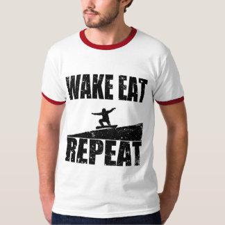 Camiseta O acordar come a repetição #2 do Snowboard (o