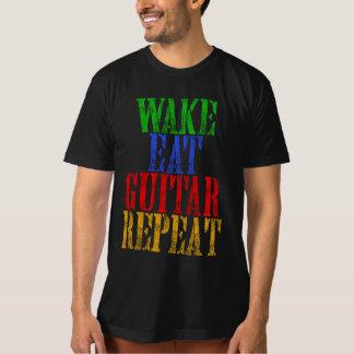 Camiseta O acordar come a repetição da GUITARRA
