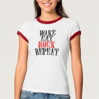 Camiseta O ACORDAR COME A REPETIÇÃO da ROCHA (o preto)