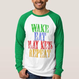 Camiseta O acordar come a repetição das CHAVES do JOGO