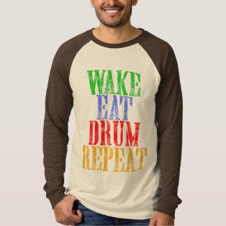 Camiseta O acordar come a repetição do CILINDRO