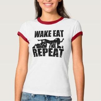 Camiseta O ACORDAR COME A REPETIÇÃO do surf da multidão (o