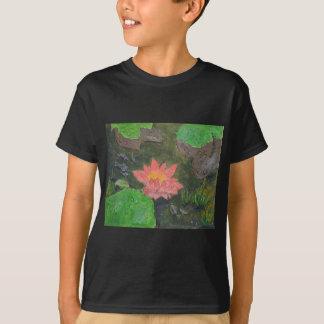 Camiseta O acrílico em canvas, pica waterlily e esverdeia